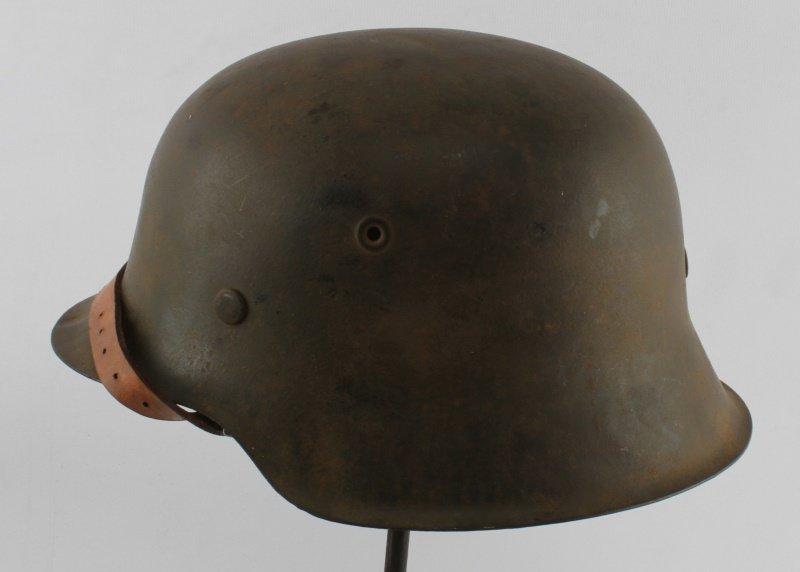 WWII GERMAN THIRD REICH M-42 SINGLE D SS HELMET - 3