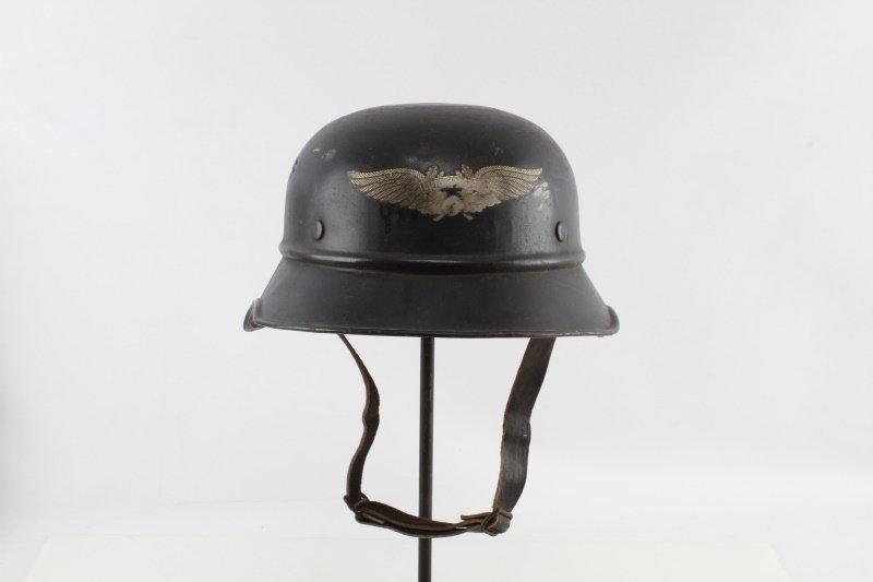 WWII GERMAN DE NAZIFIED LUFTSCHUTZ HELMET