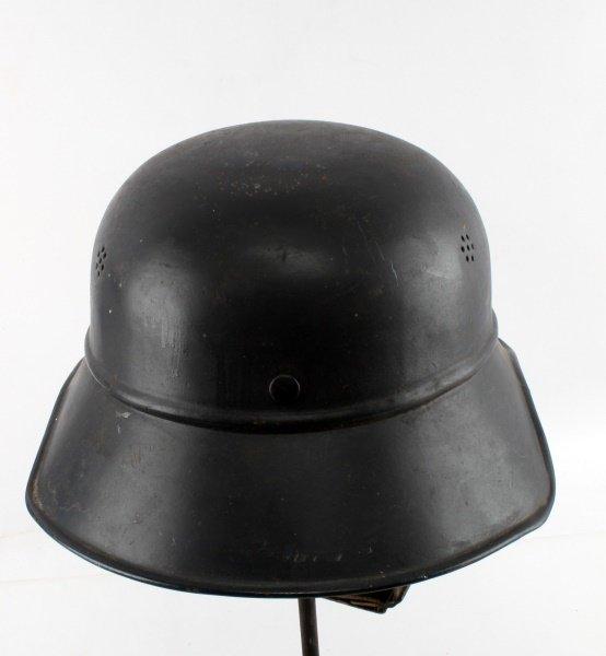 WWII GERMAN DE NAZIFIED LUFTSCHUTZ HELMET - 4