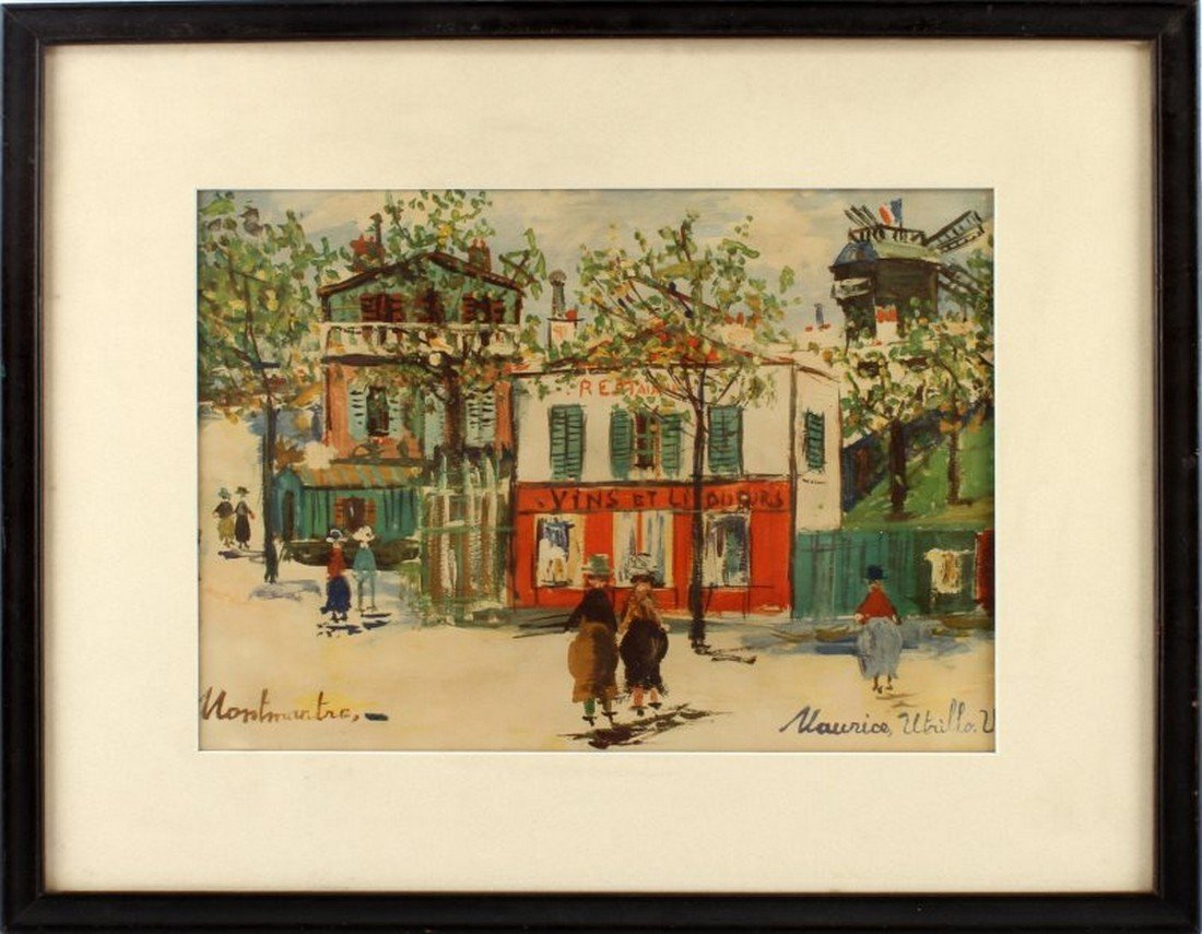 MAURICE UTRILLO LITHOGRAPH TITLED MONTMARTRE