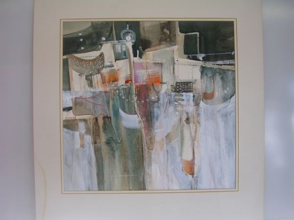 7: ABSTRACT ORIGINAL GOUACHE SGND ANDERSON Large abstra