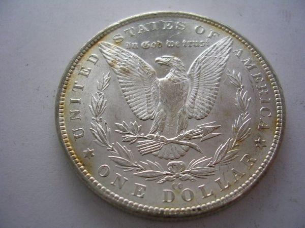 27: 1882 CARSON CITY MORGAN SILVER DOLLAR BU 1882 Carso - 2