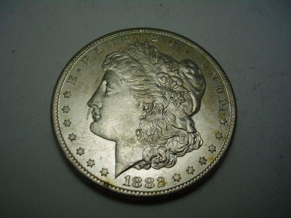 27: 1882 CARSON CITY MORGAN SILVER DOLLAR BU 1882 Carso - 3