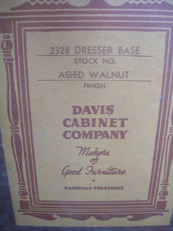 ANTIQUE WALNUT DRESSER BY DAVIS CABINET CO.  - 5