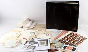 LARGE POSTAL HISTORY AND STAMP COLLECTION FV 200+