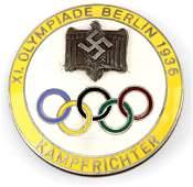 1936 BERLIN OLYMPIC JUDGE BADGE KAMPFRICHTER
