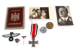 WWII GERMAN THIRD REICH MEDAL TINNI PHOTO LOT