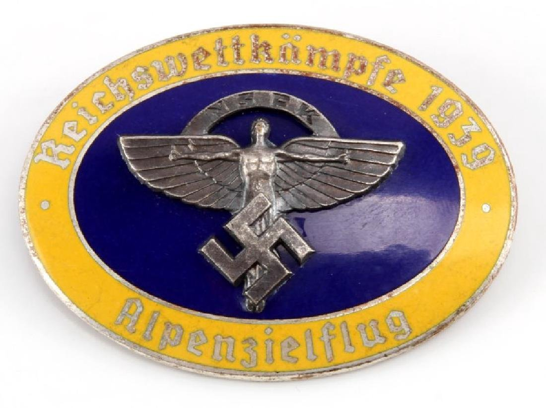WWII GERMAN 1939 NSFK ALPENZIELFLUG GLIDER BADGE