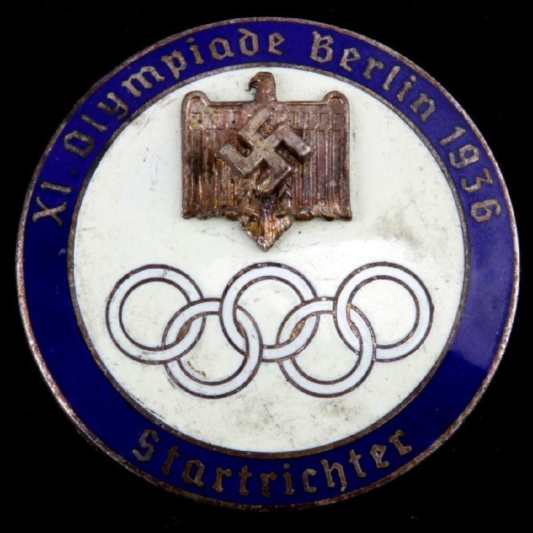 WWII GERMAN 1936 SUMMER OLYMPICS STARTER BADGE