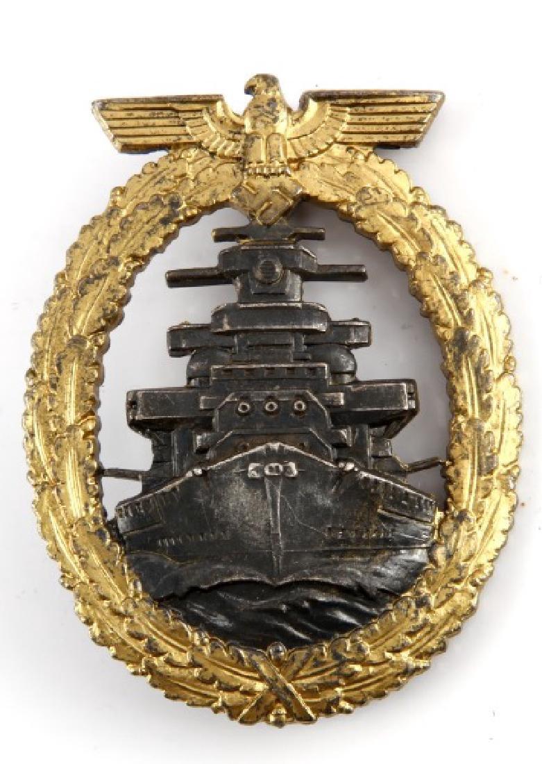 WWII GERMAN NAVAL HIGH SEAS FLEET BADGE