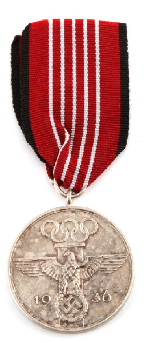 WWII THIRD REICH 1936 BERLIN SUMMER OLYMPIC MEDAL