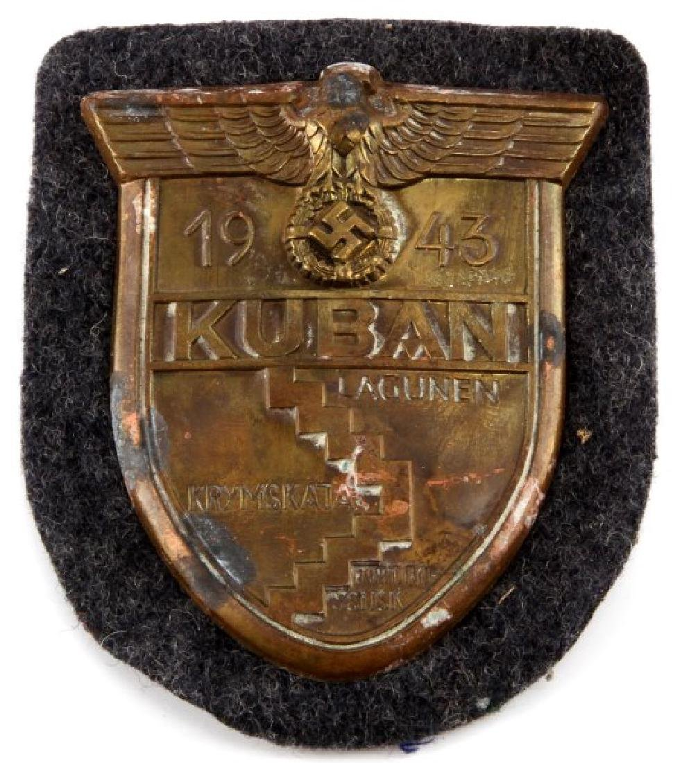 WWII GERMAN 1943 LUFTWAFFE KUBAN SLEEVE SHIELD