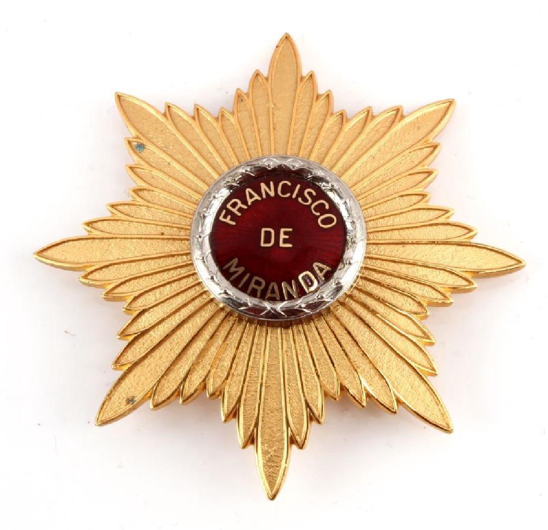 ORDER OF FRANCISCO DE MIRANDA GRAND CROSS STAR
