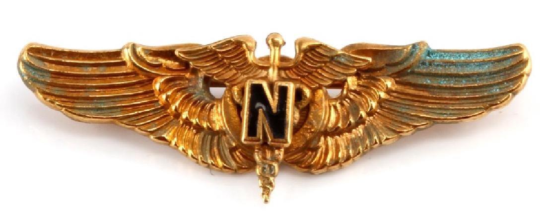 WWII UNITED STATES USAAF FLIGHT NURSE WING BADGE