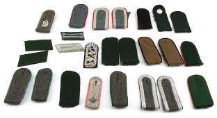 WWII GERMAN MILITARY SHOULDER BOARDS & COLLR TABS