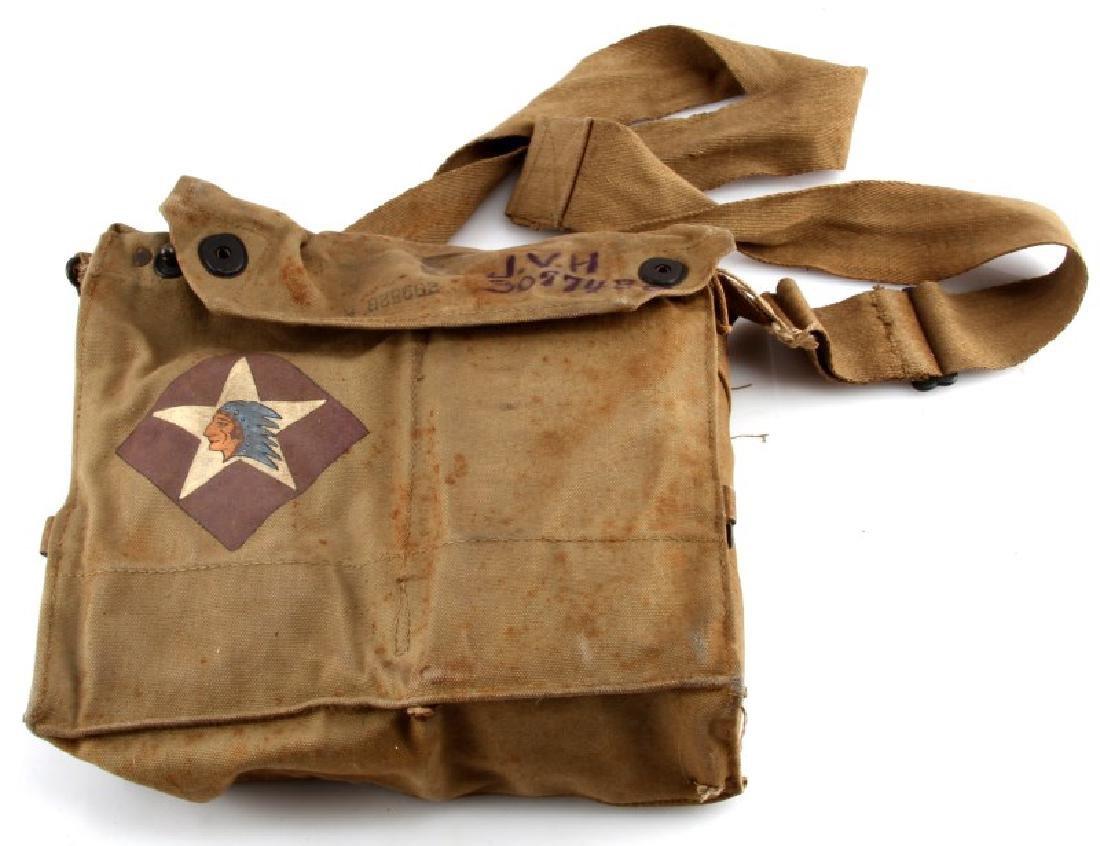 WWI MARINE USMC DEVIL DOG GAS MASK W CASE