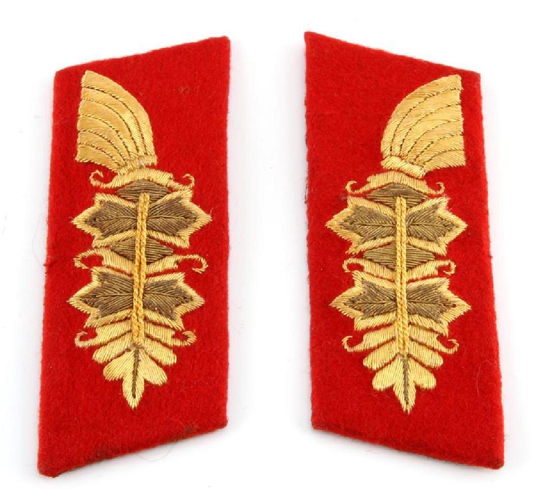 WWII 3RD REICH GERMAN ARMY GENERAL COLLAR TABS
