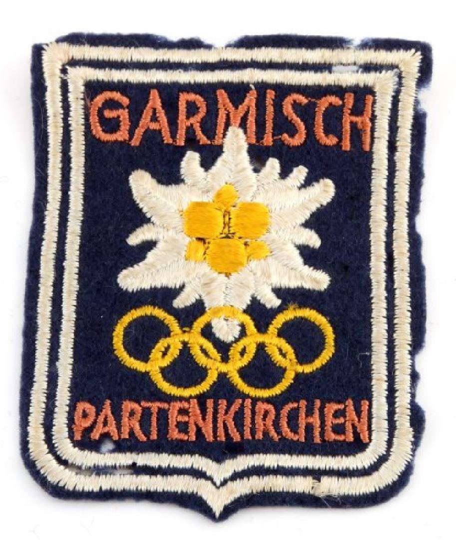 WWII GERMAN GARMISCH PARTENKIRCHEN OLYMPICS PATCH