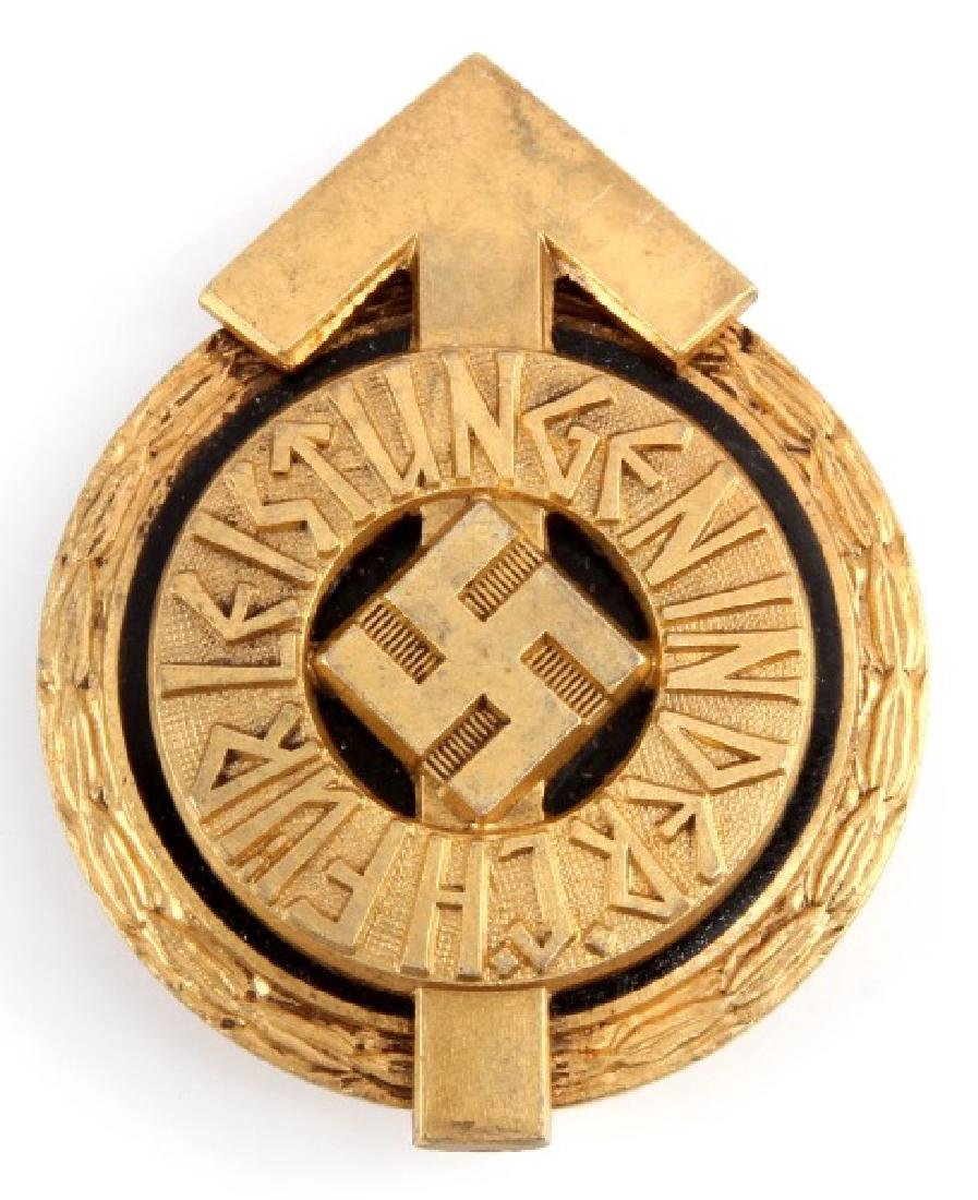 WWII GERMAN HITLER YOUTH GOLDEN SPORTS BADGE