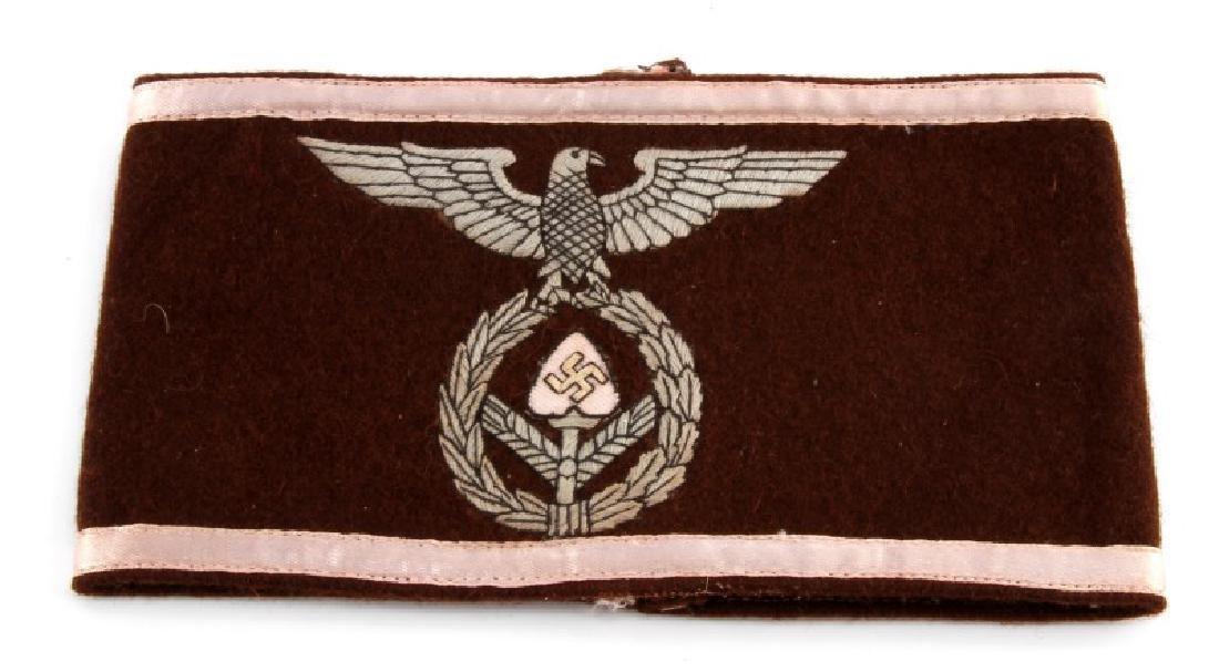 WWII GERMAN RAD LABOR KORPS OFFICERS ARM BAND