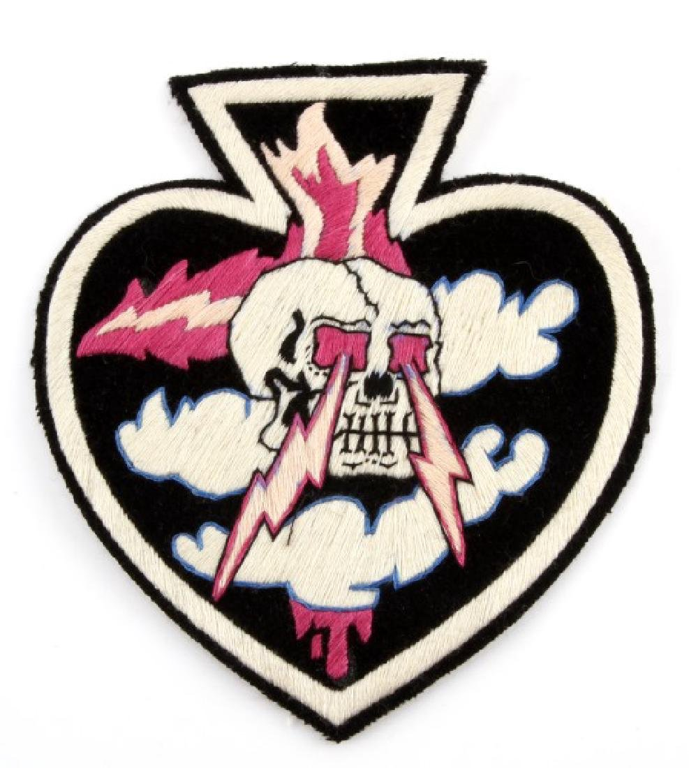 USAAF WWII AIR FORCE SKULL FIGHTER SQUADRON PATCH