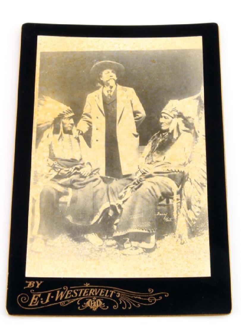 OLD WEST BUFFALO BILL CODY CABINET CARD PHOTOGRAPH