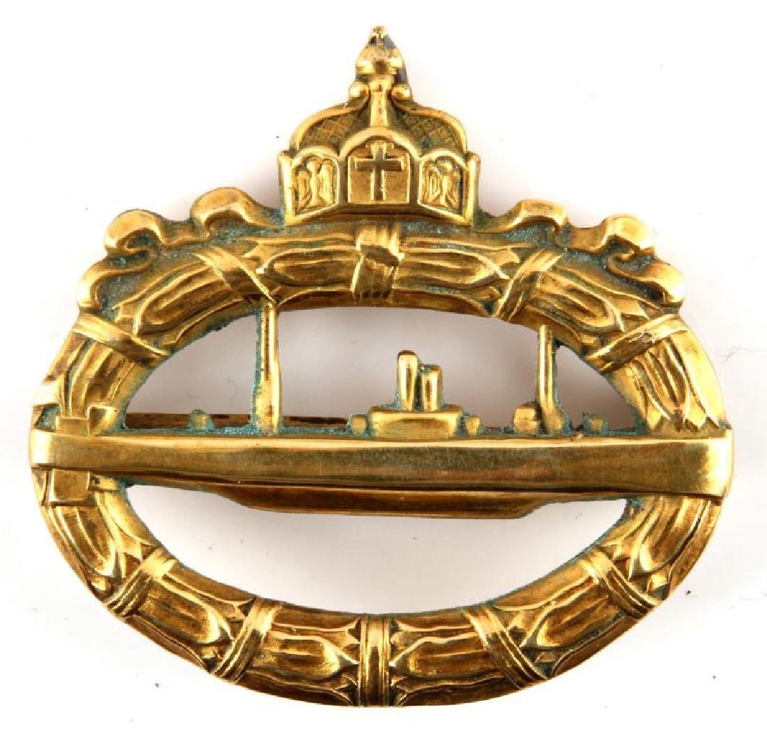 WWI IMPERIAL GERMAN NAVY U-BOAT SUBMARINE BADGE