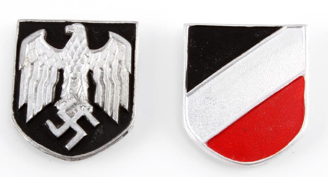 WWII GERMAN AFRIKA KORP PITH HELMET SHIELDS