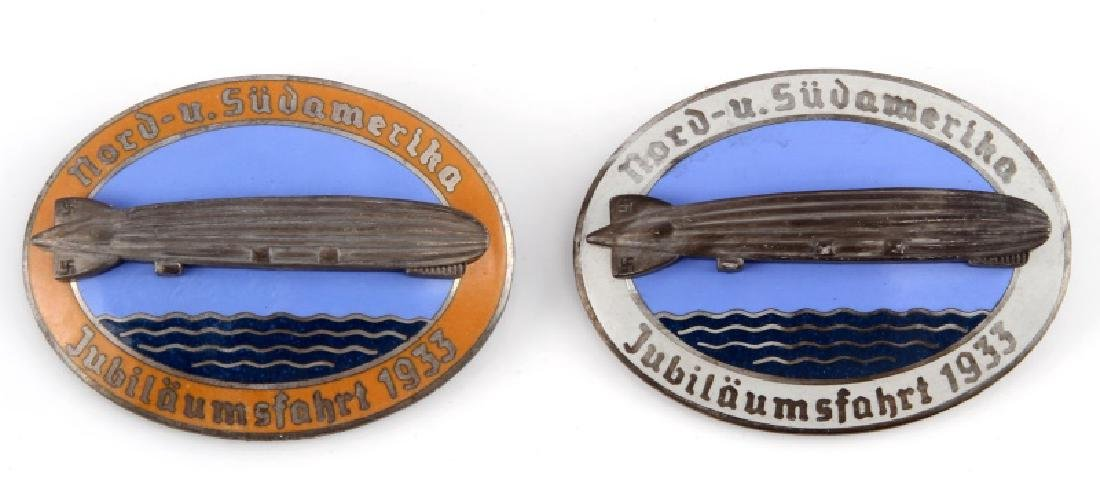 WWII GERMAN ZEPPELIN JUBILAUMSFAHRT BADGES