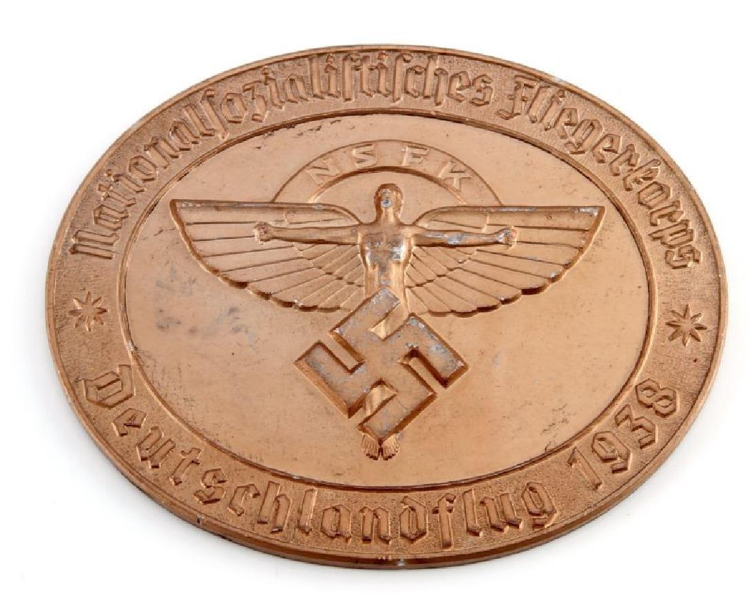 GERMAN WWII 1938 NSFK GLIDER KORPS TABLE AWARD