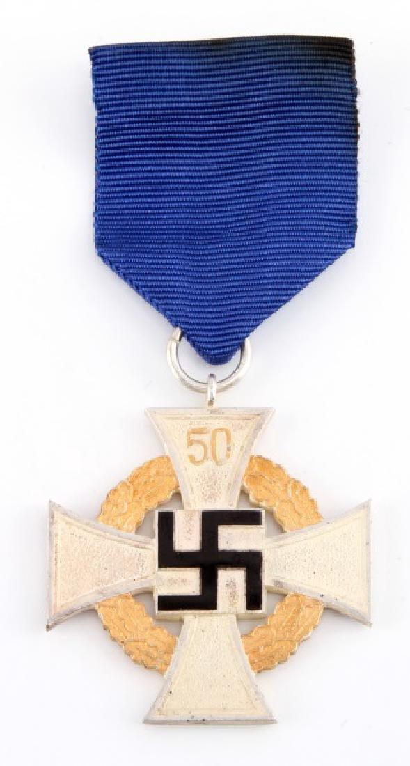 WWII GERMAN 50 YEAR FAITHFUL SERVICE DECORATION