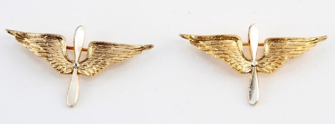 WWI US AERO AVIATOR PILOT OFFICERS COLLAR INSIGNIA