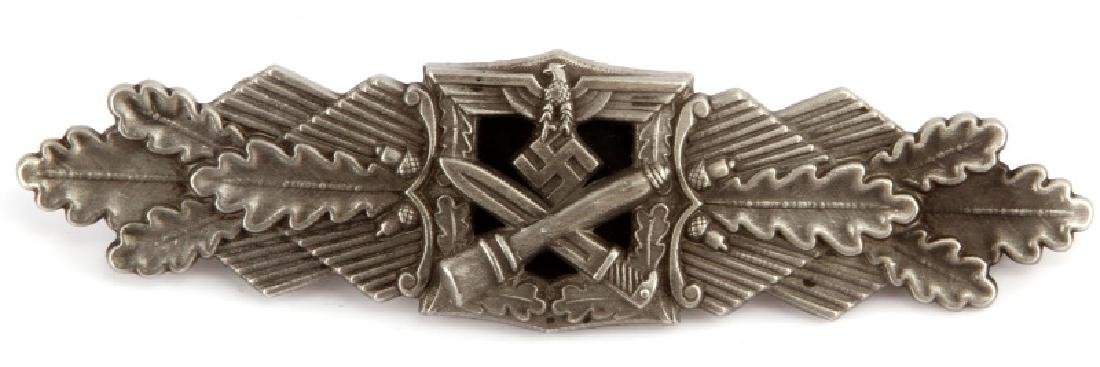 WWII GERMAN 3RD REICH SILVER CLOSE COMBAT BADGE