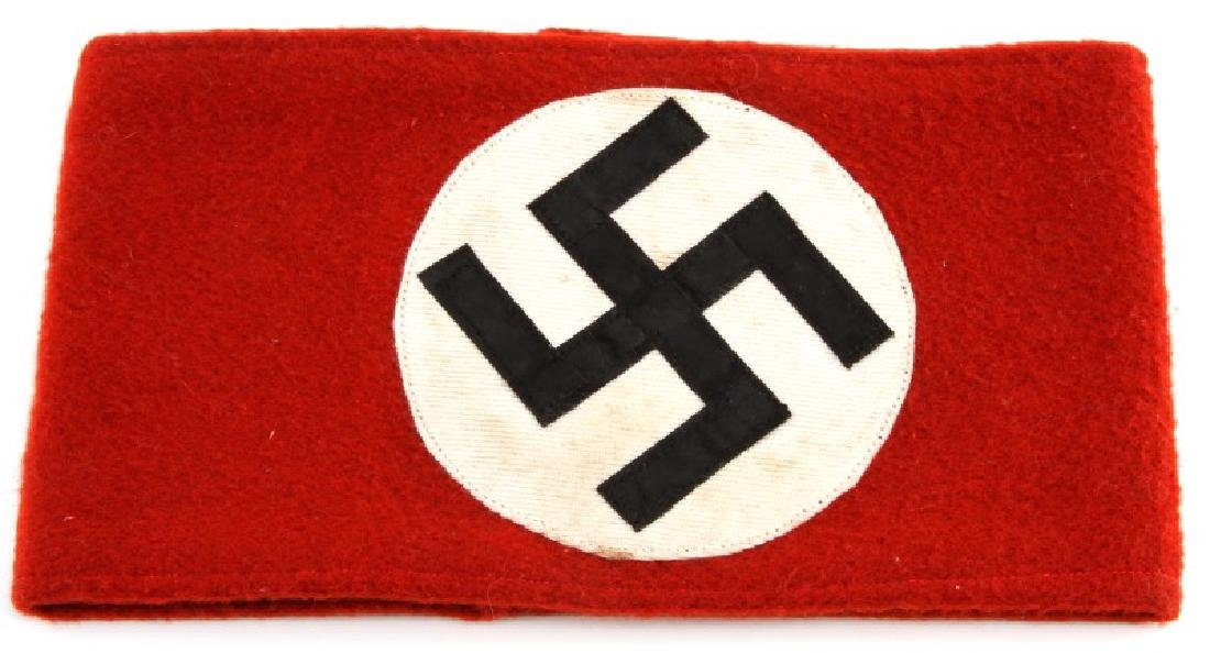 WWII GERMAN NSDAP PARTY SWASTIKA  ARM BAND