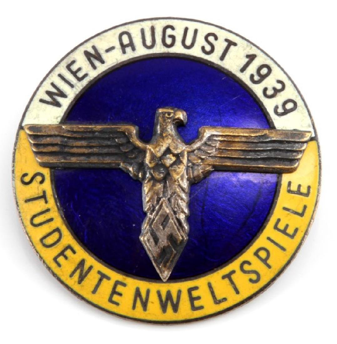WWII GERMAN 1939 STUDENTENWELTSPELE SOUVENIR BADGE