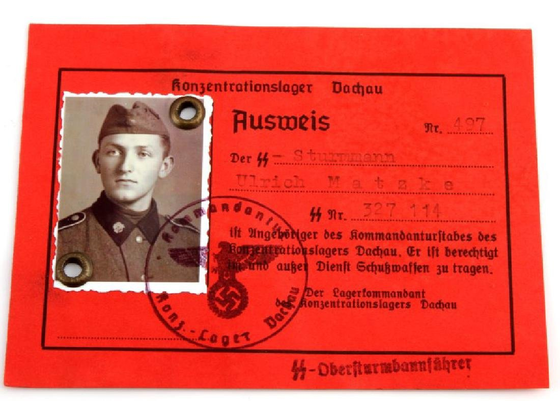 WWII GERMAN WAFFEN SS SOLDIER AUSWEIS ID CARD
