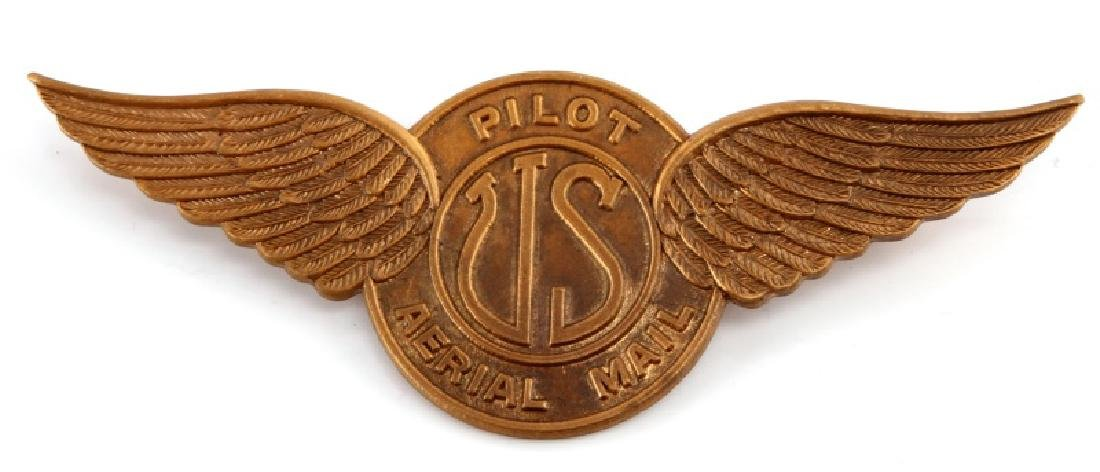 1920S US AERIAL MAIL PILOT WING BADGE