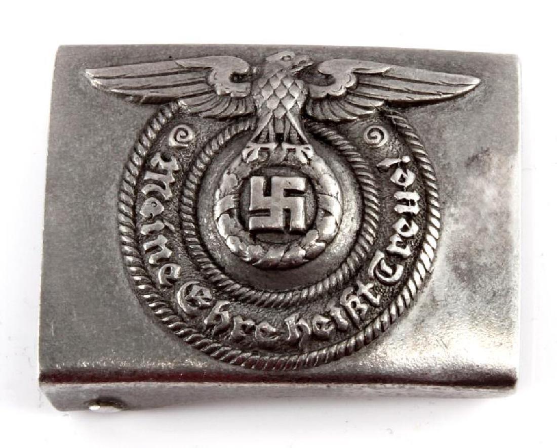 WWII GERMAN WAFFEN SS OFFICERS BELT BUCKLE
