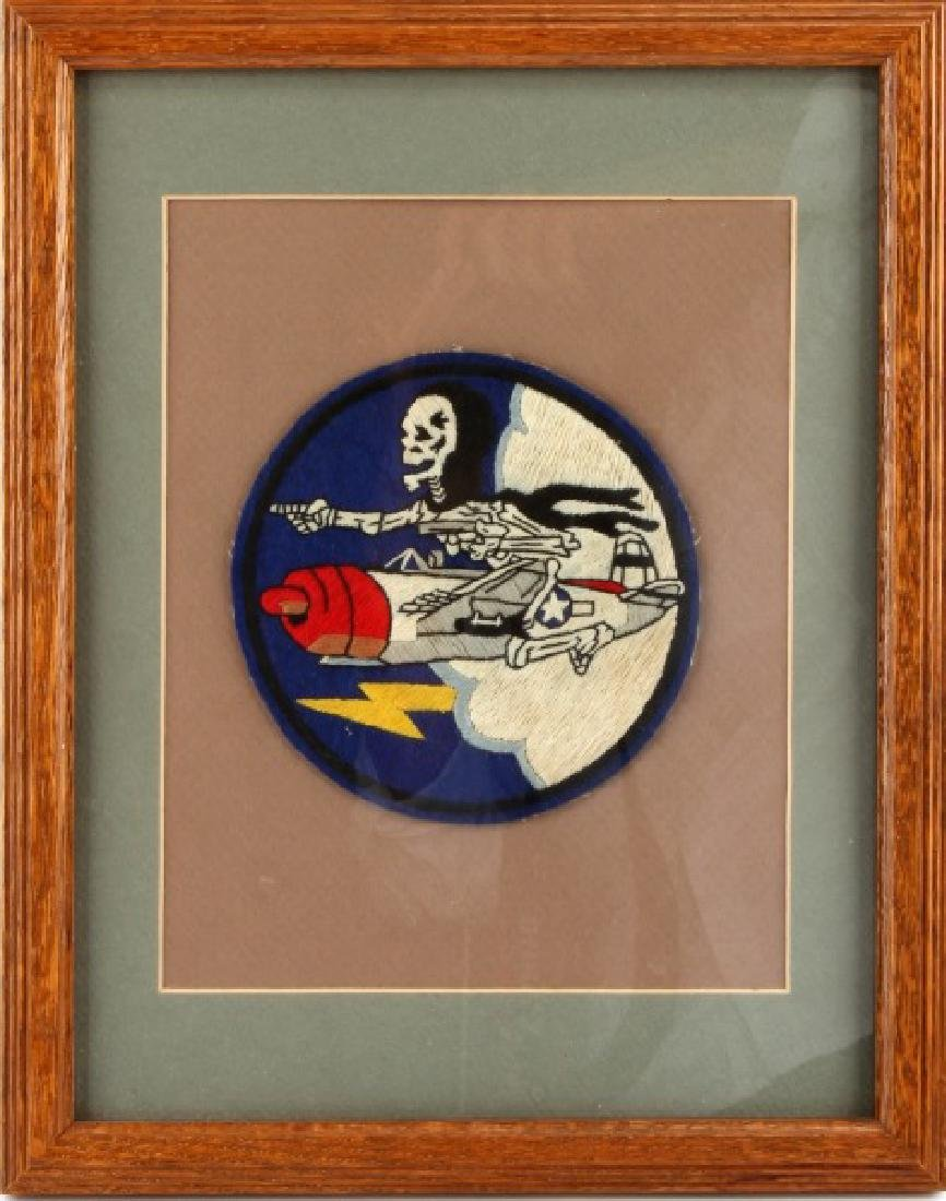 WWII FRAMED USAAF FIGHTER SQUADRON JACKET PATCH