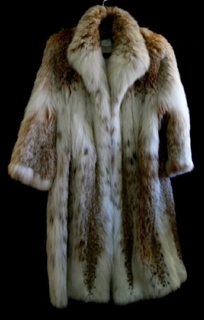 MARY MCFADDEN FULL LENGTH RUSSIAN LYNX FUR COAT