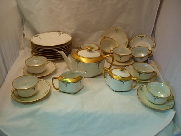 1: ART DECO GERMAN FRAUREUTH CHINA SET includes teapot,