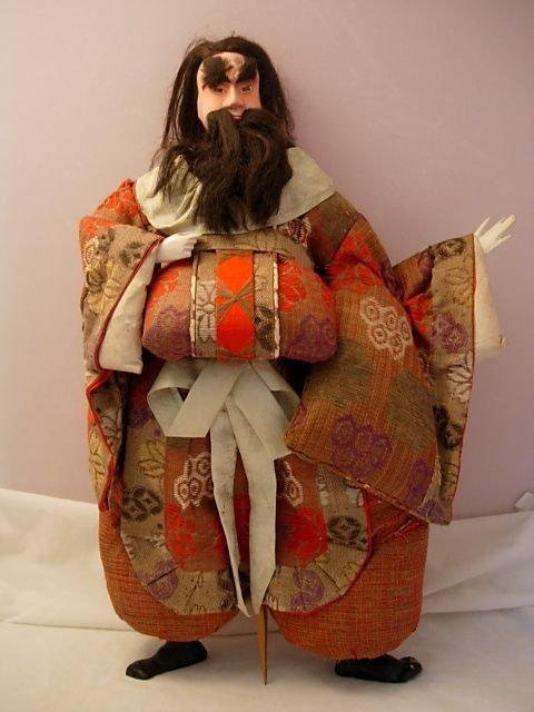 5: ANTIQUE COMPO & CLOTH CHINAMAN DOLL