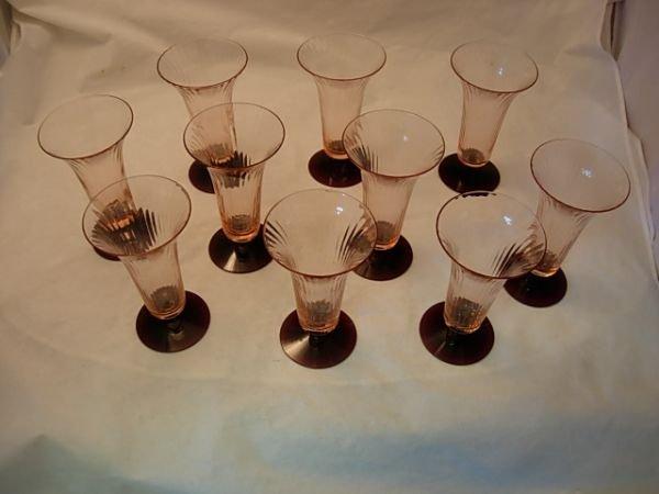 14: 10 PIECE VTG ELEGANT PINK AMETHYST GLASS