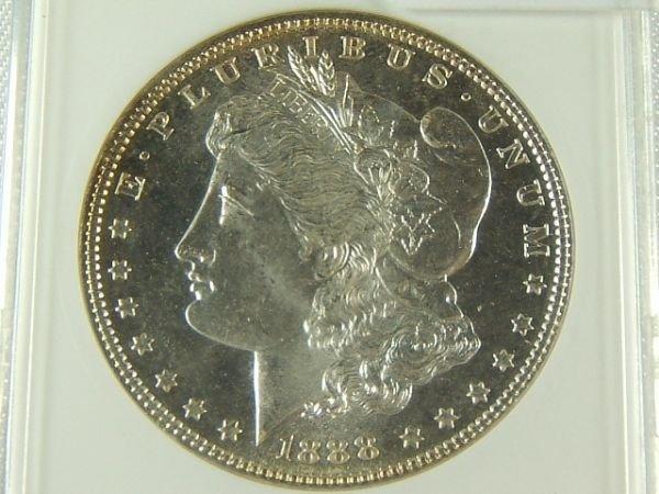 224: 1888 MORGAN SILVER DOLLAR MS 65 PL ANACS