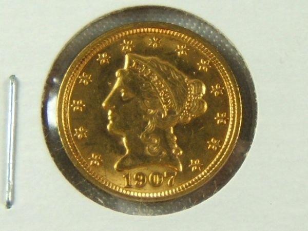270: 1907-P GOLD $2.50 QUARTER EAGLE XF