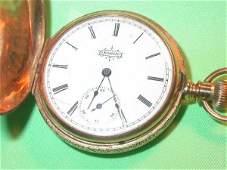 400 1895 ELGIN POCKET WATCH 14K GOLD HC LADIES WORKING