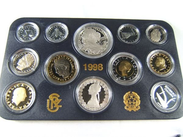 267: 1998 BERNINI PROOF COIN SET ITALY ITALIAN  SILVER