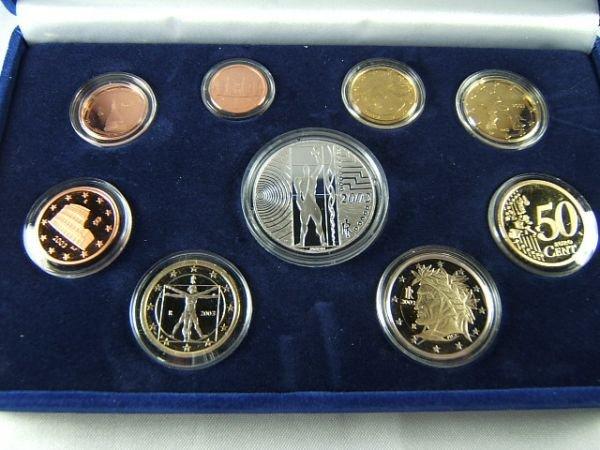 269: 2003 EURO PROOF COIN SET EUROPA DEL LAVORO SILVER