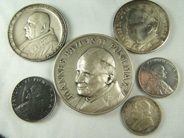 274: 1866 VATICAN CITY SILVER COIN MEDAL LOT OF 6