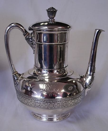 315: ANTIQUE AESTHETIC TIFFANY & CO STERLING COFFEE POT